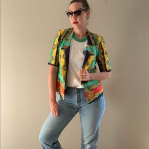 Vintage Anti Fashion Chain Link Print Jacket